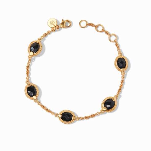 $95.00 Calypso Delicate Bracelet- Obsidian Black