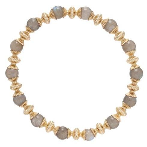 $86.00 Loyalty Gold 6mm Bead Bracelet-Labradorite