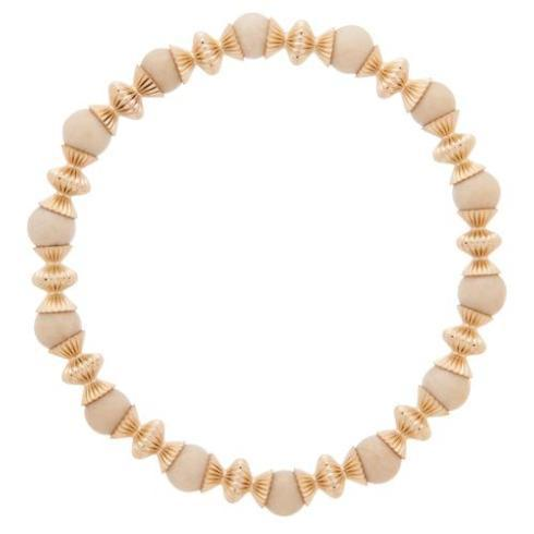 $86.00 Loyalty Gold 6mm Bead Bracelet-Riverstone