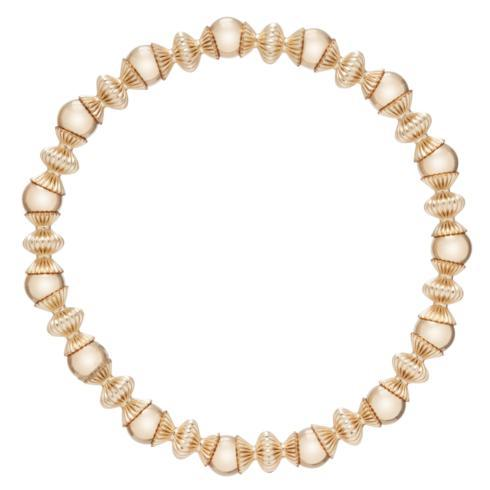 $105.00 Loyalty Gold 6mm Bead Bracelet-Gold