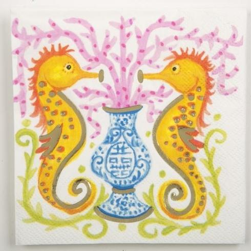 Beverage Napkin Seahorse collection with 1 products