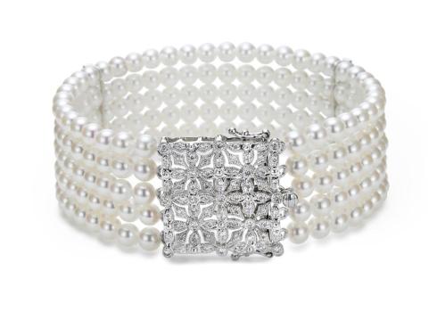 $4,235.00 Five Row Deco Bracelet