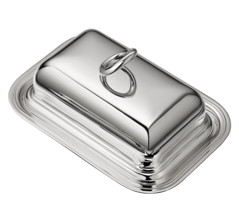 Christofle  Vertigo 	Silver-Plated Butter Dish with Lid $890.00