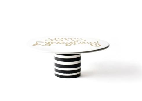 Black Stripe Happy Everything! 11in Cake Stand collection with 1 products