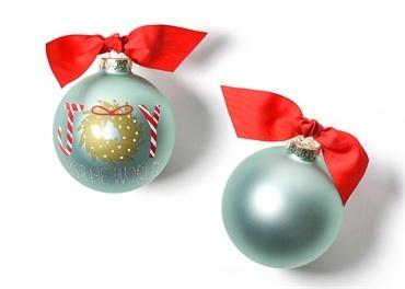 $23.95 Joy To The World Wreath Glass Ornament