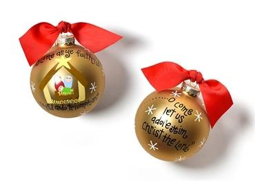 O Come All Ye Faithful Glass Ornament collection with 1 products