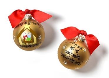 $23.95 O Come All Ye Faithful Glass Ornament