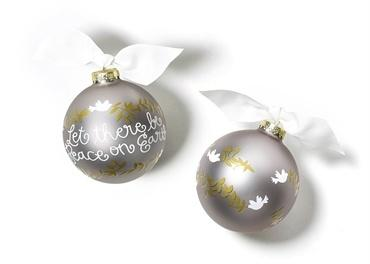 $23.95 Peace On Earth Glass Ornament