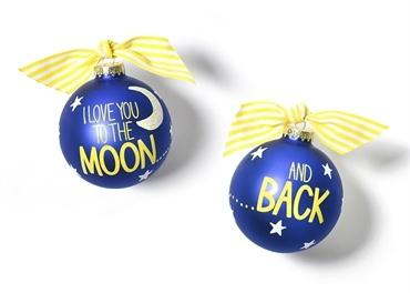 I Love You To The Moon And Back Glass Ornament collection with 1 products