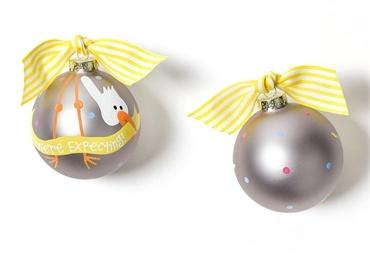 Stork We're Expecting Glass Ornament collection with 1 products