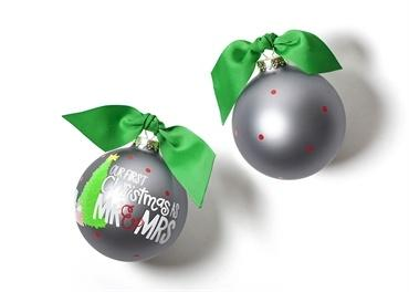 Our First Christmas As Mr. & Mrs. Glass Ornament collection with 1 products