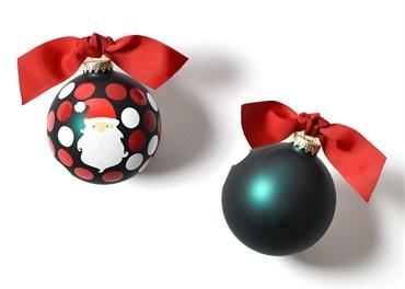 $22.95 Ho Ho Santa Glass Ornament