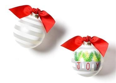 $23.95 Joy Branches Glass Ornament