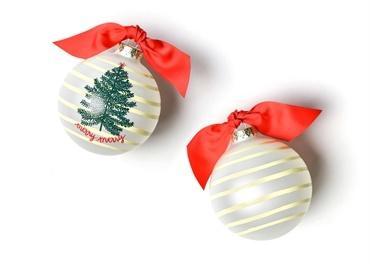 $22.95 Merry Tree Glass Ornament