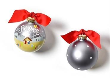 $23.95 Rejoice Nativity Glass Ornament