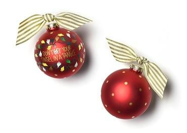 Don't Get Your Tinsel In A Tangle Glass Ornament collection with 1 products