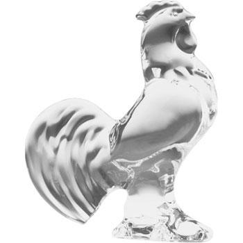 $125.00 Rooster Clear Figurine