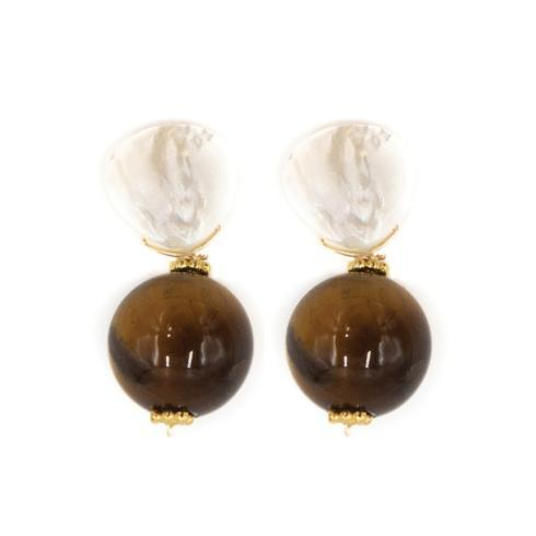 $80.00 Claire Earring, Tiger Eye