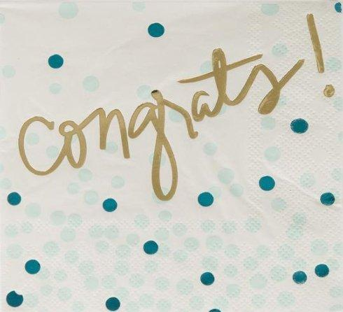 Beverage Napkin- Congrats! collection with 1 products