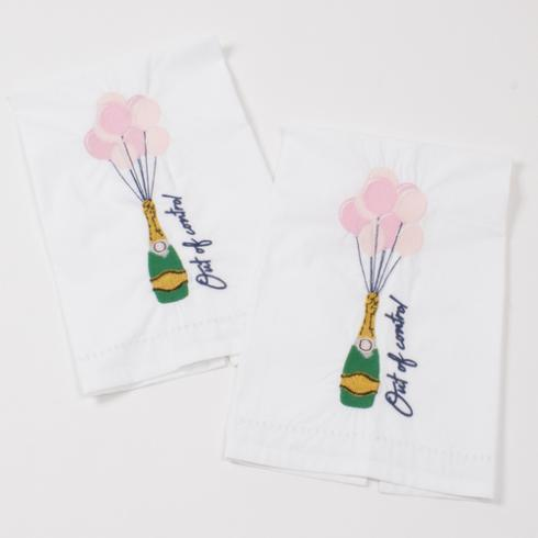$16.00 Champagne Balloon Bar Towel