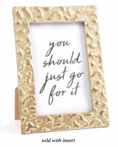 $32.00 4 x 6 Gold Leopard Picture Frame