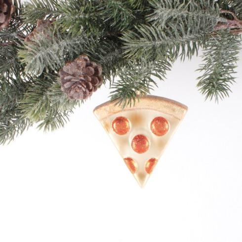 $15.00 Pizza Glass Ornament