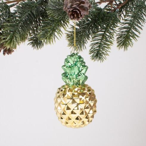 $15.00 Pineapple Glass Ornament