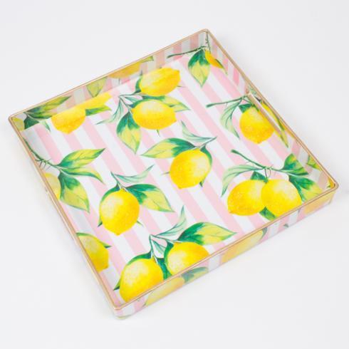 $30.00 Square Tray- Lemon