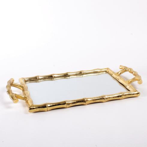 $68.00 Gold Bamboo Vanity Tray