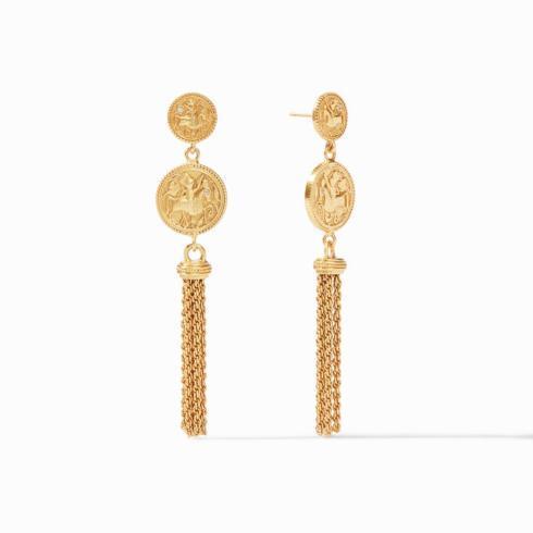$155.00 Coin Tassel Earring