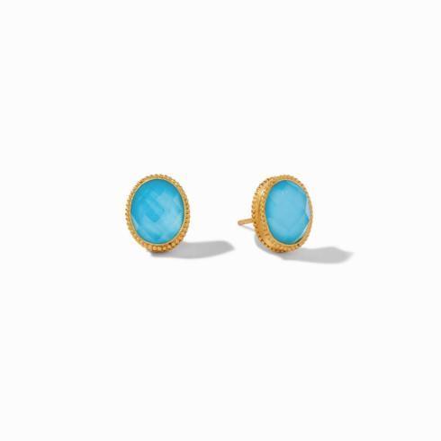 $110.00 Verona Stud Earring Iridescent Pacific Blue