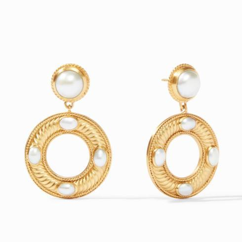 $185.00 Olympia Statement Earring Pearl
