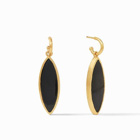 $165.00 Venus Statement Earring Obsidian Black