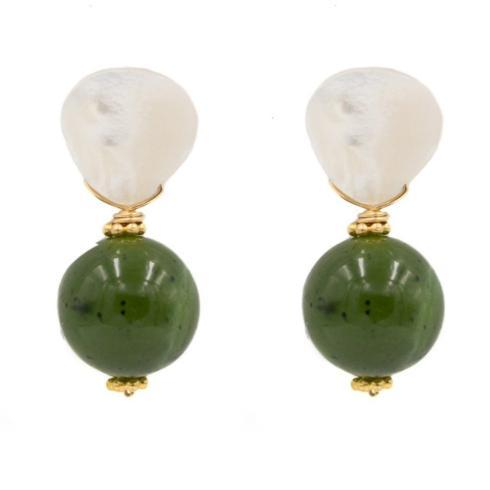 $80.00 Claire Earring, Moss