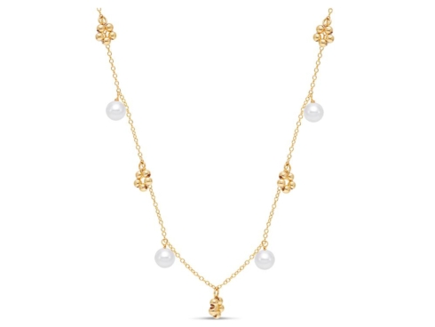 $475.00 Beaded Charm Pearl Necklace