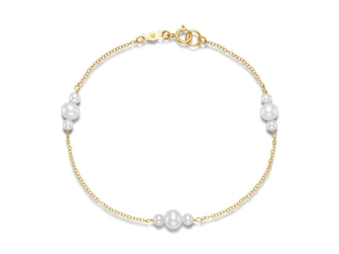 $265.00 Three Pearl Station Bracelet