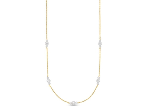 $450.00 Three Pearl Station Necklace