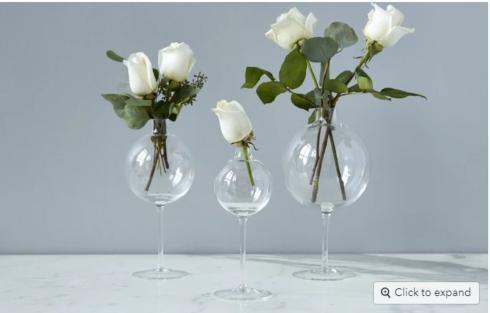 $32.00 Wine Glass Vase, Medium