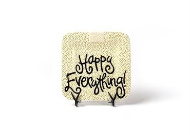 Gold Small Dot Happy Everything! Mini Square Platter collection with 1 products