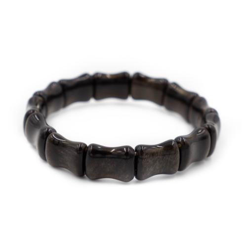$32.00 Bamboo Bangle Black Obsidian