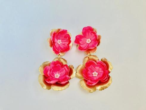 Hot Pink Floral Drop Earring collection with 1 products