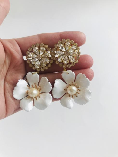 Crystal and Florals with Pearl Drop Earring collection with 1 products