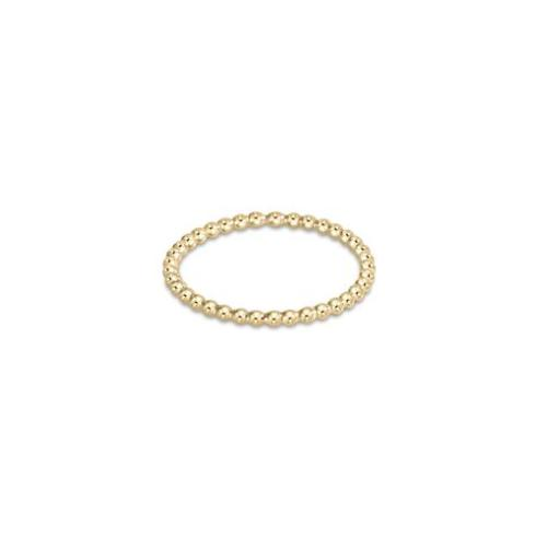 $25.00 Classic Gold 1mm Bead Ring - Size 8