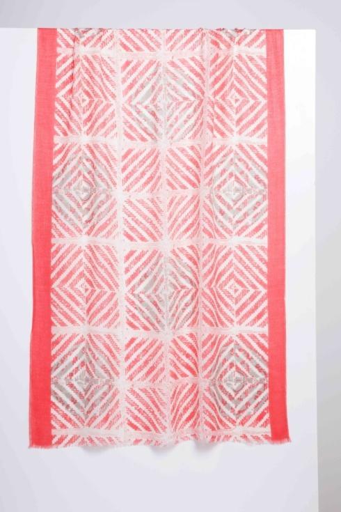 $124.00 Mediterrenean Tile Print Scarf Camelia Multi