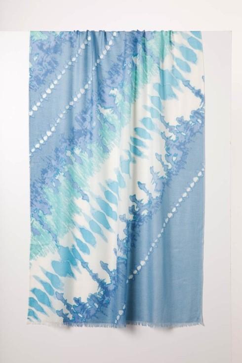 Tie Dye Print Scarf-Opal Multi