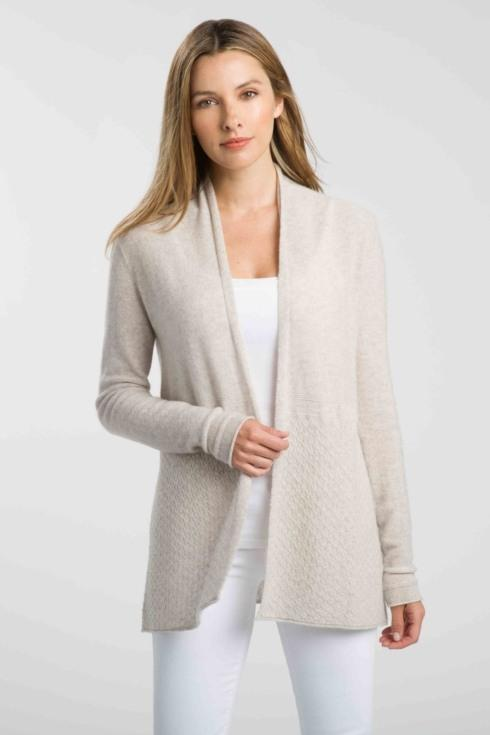 $260.00 FWT Textured Cardigan-Biscotti Small