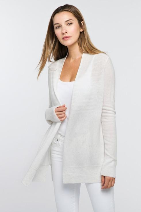 Easy Rib Cardigan- Medium - Whisper