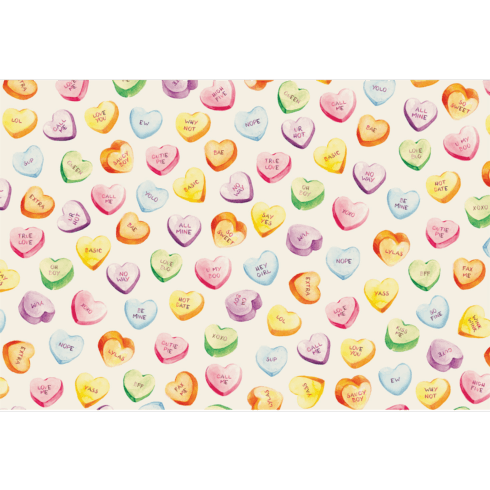 $29.00 Conversation Hearts Placemats