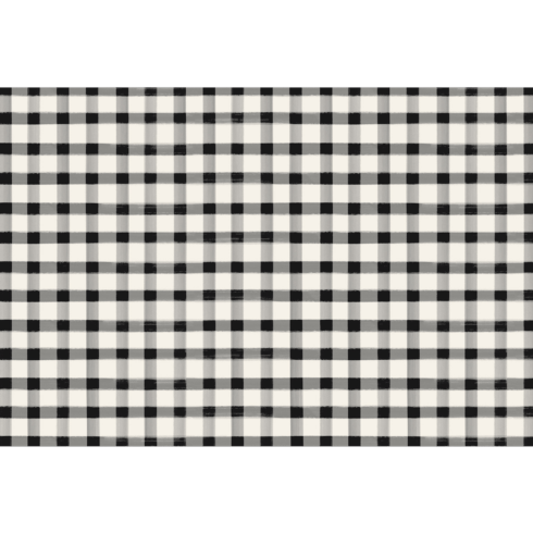 $29.00 Black Painted Check Placemat