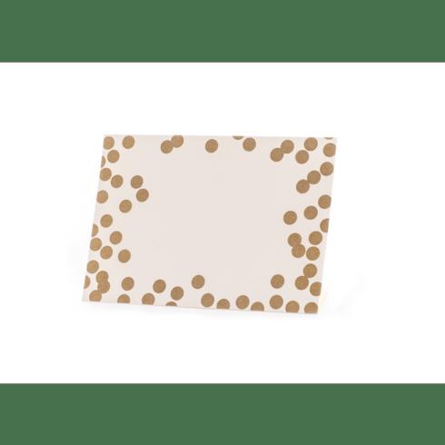 $8.00 Gold Confetti Place Card